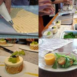 ビスキュイとバニラムースケーキ作り風景