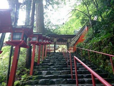 貴船神社の階段画像