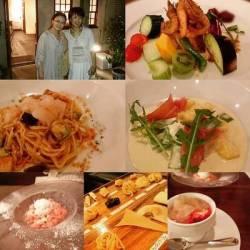 イタリア料理やデザート、友との2ショット画像