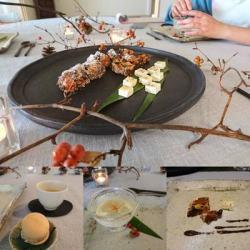 パンオフリュイ&よつ葉レモン&ココナッツアイスがテーブルにセッティング
