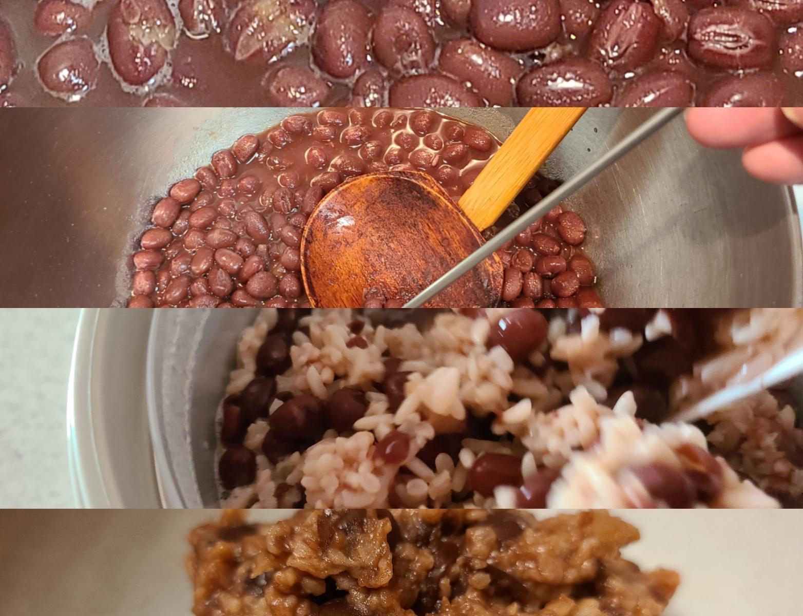 米麹小豆作りの工程4ショット