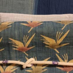 帯と着物、帯揚げ帯締めを並べてコーディネート